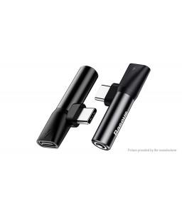 Authentic Baseus L41 USB-C to USB-C + 3.5mm Audio Splitter Adapter
