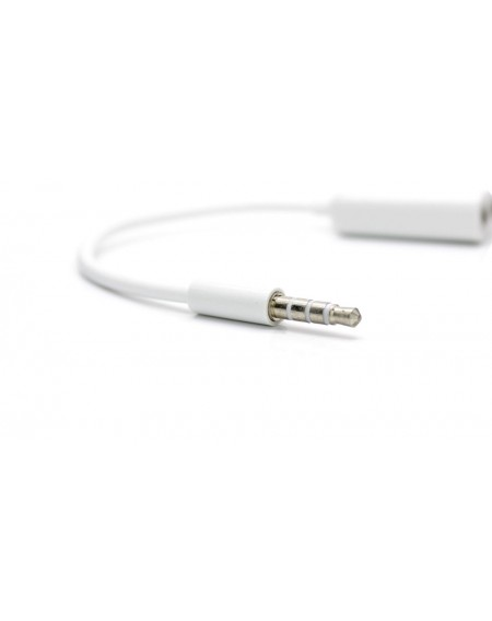 3.5mm Male to Dual Female Audio Split Adapter Cable (White)