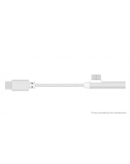 2-in-1 USB-C to USB-C + 3.5mm Audio Adapter Cable (12cm)