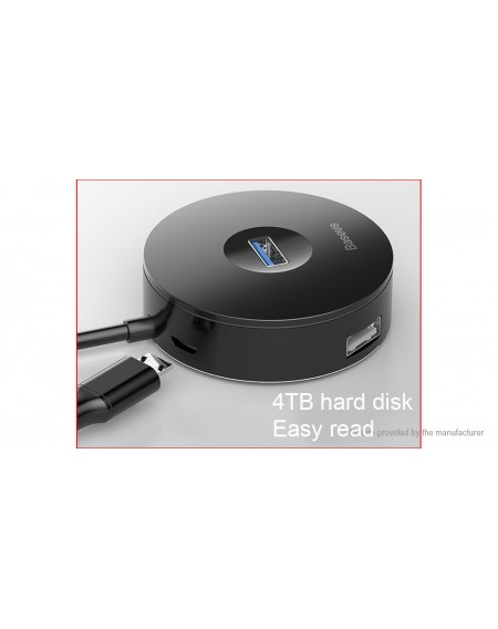 Authentic Baseus 4-in-1 USB/USB-C to USB 2.0/USB 3.0 Hub Adapter