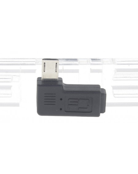 Mini USB Female to Micro USB Male Right Angled Adapter